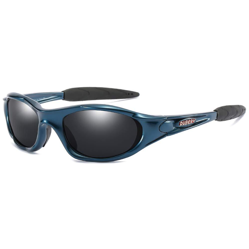 DUBERY Polarized Sunglasses for Men Women Sport Outdoor Driving Fishing Riding Glasses (Blue/Black #9) by DUBERY