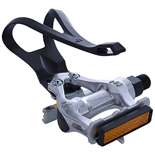 Oxford Alloy Road Racing Bike Pedals with Toeclips - 9/16' Standard Thread