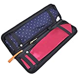 Men Nylon Necktie Travel Tie Case Tie Holder Storage , Black