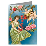 Unique Giant Horn of Plenty Hearts Valentines Day Greeting Card - 10x13 inch