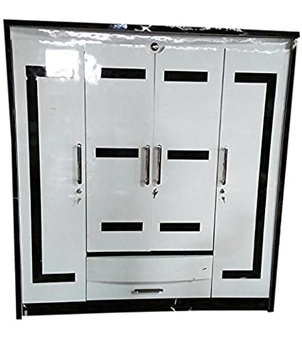 Royalwood Modular Furniture 3 Door Wardrobe White And Brown Color Amazon In Home Kitchen