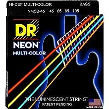 DR Strings NMCB-45 DR NEON 4 Bass Guitar String, Medium, Multi-Color