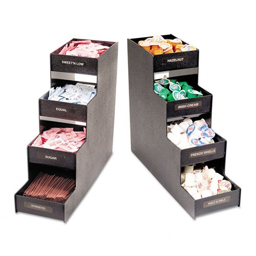 - Vertiflex : Narrow Condiment Organizer, 6w x 19d x 15-7/8h, Black -:- Sold as 2 Packs of - 1 - / - Total of 2 Each