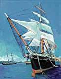 Imagekind Wall Art Print entitled Tallship Star Of India San Diego by RD Riccoboni | 36 x 46
