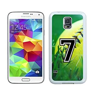 Case For Galaxy S5,Softball Sports Fan Player Number 07 White Samsung Galaxy S5 i9600 Case