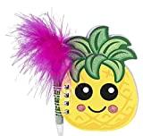 DollarItemDirect 4'' Pineapple Notebook with Feather Pen, Case of 288