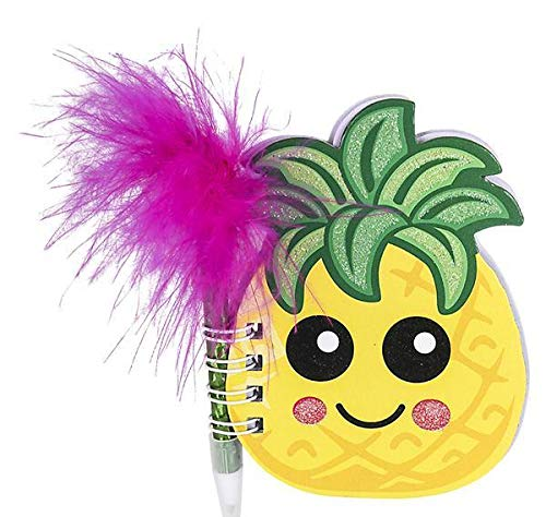DollarItemDirect 4'' Pineapple Notebook with Feather Pen, Case of 144