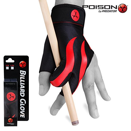 Poison Pool Cues - POISON Billiard GLOVE - for LEFT hand (L/XL)