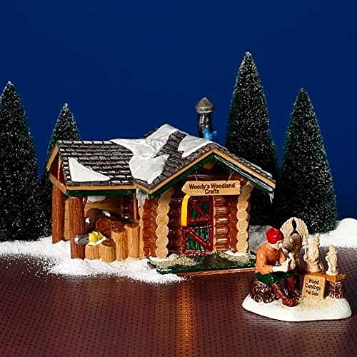 (Woody's Woodland Crafts NIB Department Dept. 56 Snow)