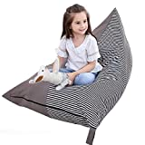 Eurobuy Stuffed Animal Bean Bag Chair,Storage Bean Bag Sofa,Comfortable Seating,Extra Large Toy Storage Bag for Kids,Teens and Adults,Soft Toy Organizer fits 200L