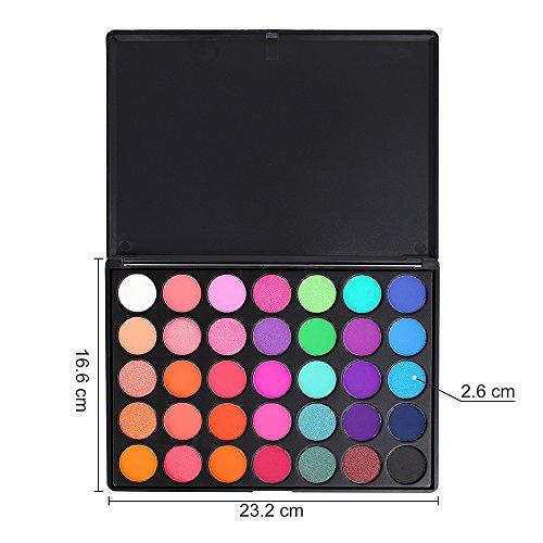 35 Bright Colors Matte Shimmer Eyeshadow Makeup Pallete Long Lasting And High Pigment Silky Powder Eye Shadow Cosmetics Set Beauty & Health Eye Shadow