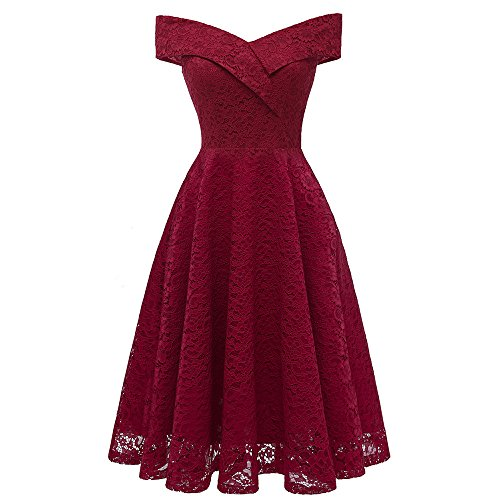 See the TOP 10 Best<br>Crochet Lace Belted Fit-And-Flare Dress