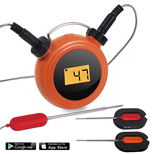 AidMax Smart Wireless BBQ Thermometer Dual Probes Grill, Pro07, Digital Meat Probe Thermometer Wireless Remote Android IOS devices, Food Thermometer Oven Smoker Kitchen