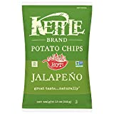 Kettle Brand Potato Chips, Jalapeno, 13 Ounce Bags (Pack of 10)