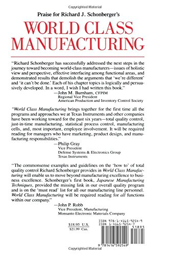 World Class Manufacturing: Amazon.de: Richard J. Schonberger ...