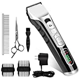 Best Clippers For Dogs - Dog Grooming Clippers Kit, Professional Pet Cordless Low Review