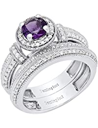 Hearty 18 Kt White Gold Diamond Ring Matching Band Set Vvs1 D 0.96 Carat Solitaire Elegant Shape Jewelry & Watches
