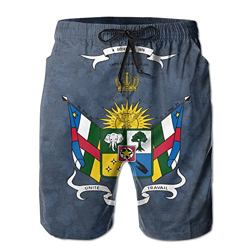 Qinf New Cartoon Fashion Central-africa-clipart Summer Beach Pants Casual Shorts For Man by Qinf