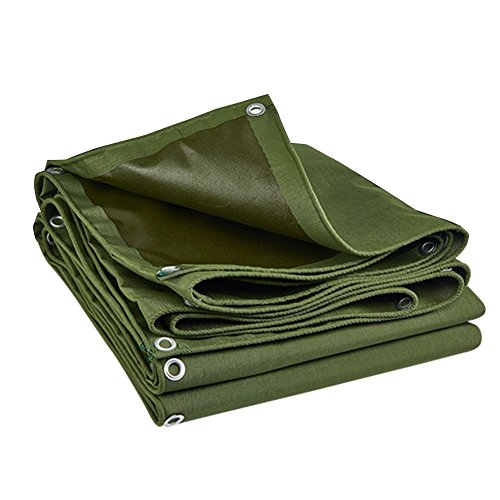 LIANGLIANG Tarpaulin Heavy Duty Waterproof Sheet Rainproof Tear Resistance Durable Metal Buttonhole Polyester YarnPVC, 9 Sizes (Color : Green, Size : 1.9x1.4) by LIANGLIANG-pengbu