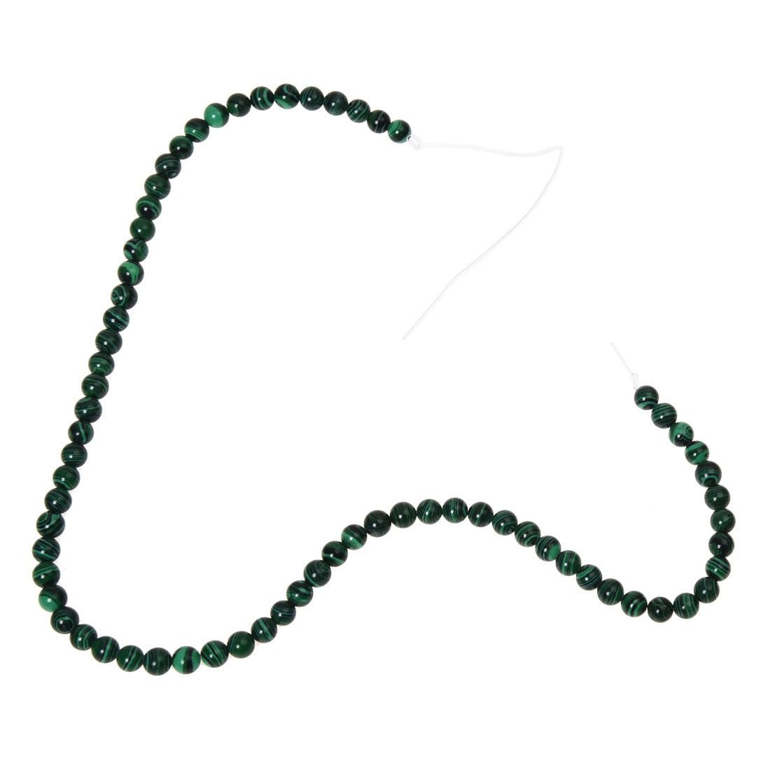 TOOGOO(R) 6 mm Verde Malachite Perline rotonde Strand Con una Borsa Custodia per fare gioielli, Design, Artigianato 045214