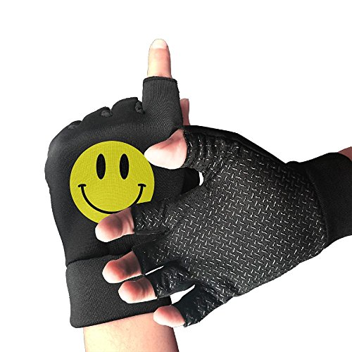 Smiley Face Emoji Fingerless Anti-slip Gloves 1 Pair by DFADS