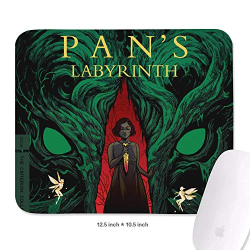 Gaming Mouse Pad Custom Pan's-Labyrinth-(13)- Art Non-Slip Rubber Base Rectangle Design Non-Slip Rubber Mouse Pad 10.5x12.5 Inch
