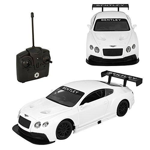 [Remote Control RC Bentley GT3 1:24 Quick Speed Exceptional Detail - White] (Universal Nitro Starter Box)