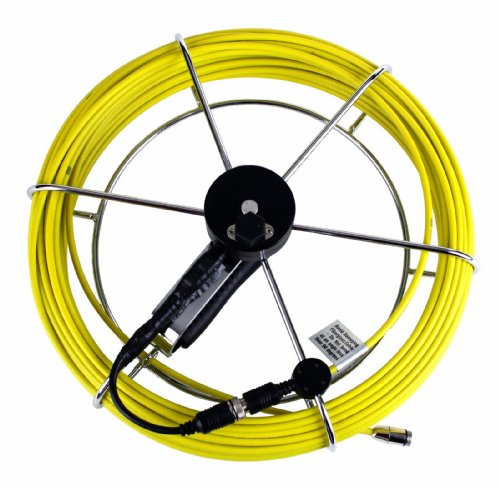 Steel Dragon Tools Pipe Inspection Camera Fiber Glass Push Rod & Reel 100 FT fits 1/2 Inch Camera Head ()