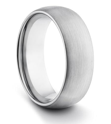 8 mm/hombre/mujer de carburo de tungsteno de estilo clásico y unisex anillo