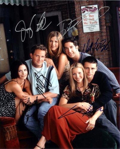 Friends TV Series Cast Signed Autographed 8 X 10 Reprint Photo - Mint Condition from Nostalgic Cards & Autographs