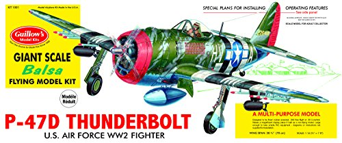 P 47d Thunderbolt - Guillow's P-47D Thunderbolt Model Kit