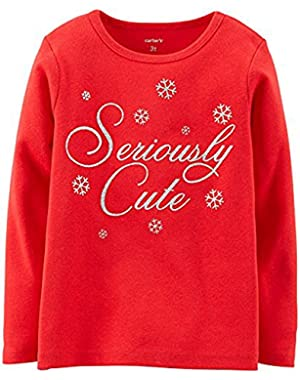 Baby Girls Seriously Cute Top (6 Months, Red)