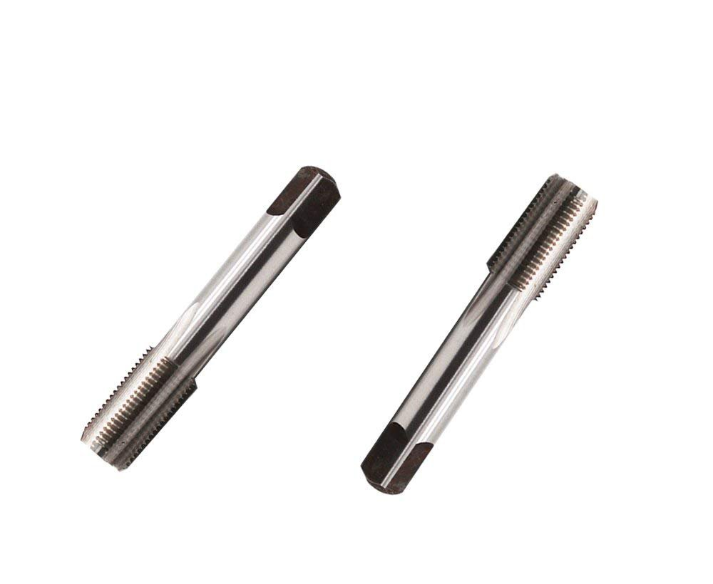 ZXHAO 2pcs G1//8-28 HSS 4 Flutes Spiral Point Hand Tap 17mm//0.67 inch Thread Dia Piping Thread Tap