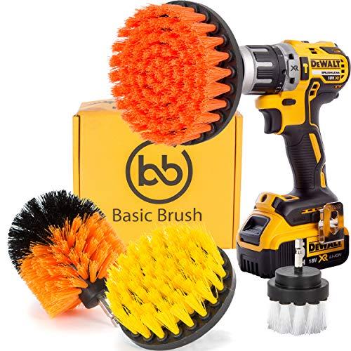 BasicBrush Drill Brush Attachment Kit - Stiff Medium Soft Ny