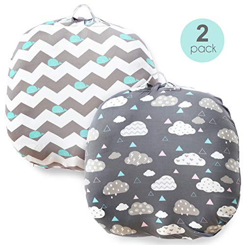 Cheap Stretchy Newborn Lounger Cover -2 Pack Removable Slipcover,Super Soft Snug Fitted,Whale & Clou...