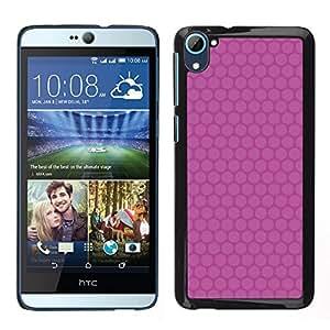 LECELL--Funda protectora / Cubierta / Piel For HTC Desire D826 -- Modelo rosado minimalista --