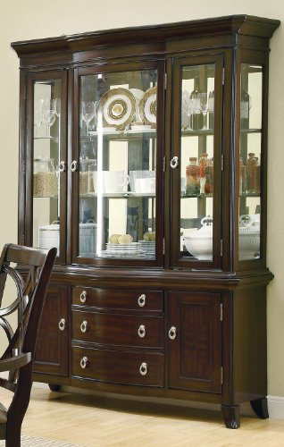 Coaster Home Furnishings 103534H Contemporary Hutch, Espresso by Coaster Home Furnishings