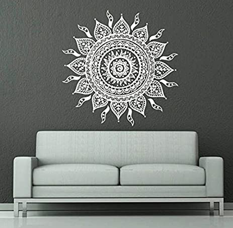 Wall Decals Mandala Ornament Indian Geometric Moroccan Pattern