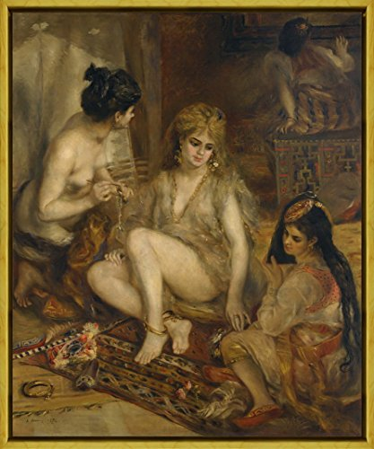 Parisiennes In Algerian Costumes Or Harem - Berkin Arts Framed Auguste Pierre Renoir