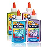 Elmer 's lavable color translúcido pegamento, Colores Variados, 4-Count