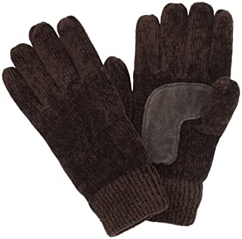 Isotoner Women's Chenille Palm Glove, Chocolate, One Size