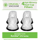 4 STK Style Dust Cup Filters for Eureka STK Quick Series 96B, 162A, 164B, 169A Vacuums; Compare to Eureka Part Nos. 61544, 61544A; Designed & Engineered by Think Crucial
