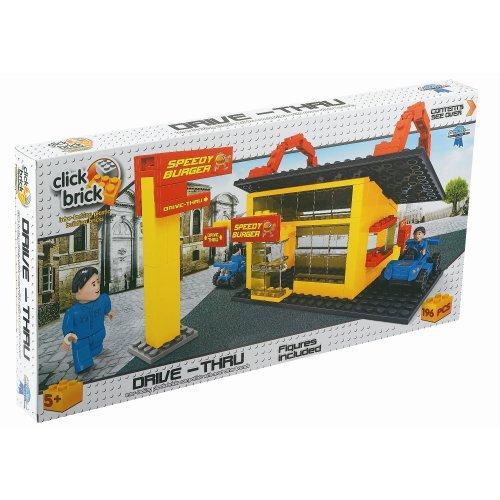 Buy click bricks drive thru set 194-piece