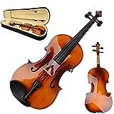 GHP Brown Basswood Aluminium Alloy Maple & Arbor 16'' Acoustic Viola w Case Bow & Rosin