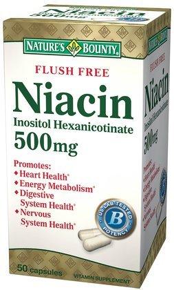La niacine générosité de la nature, Rincer gratuit, 500 mg, gélules, 50 ct.
