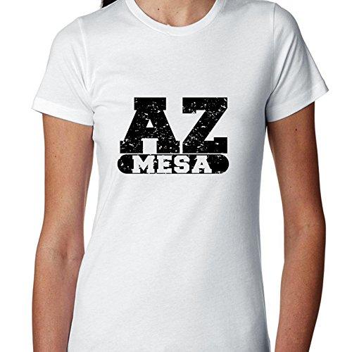 Hollywood Thread Mesa, Arizona AZ Classic City State Sign Women's Cotton T-Shirt