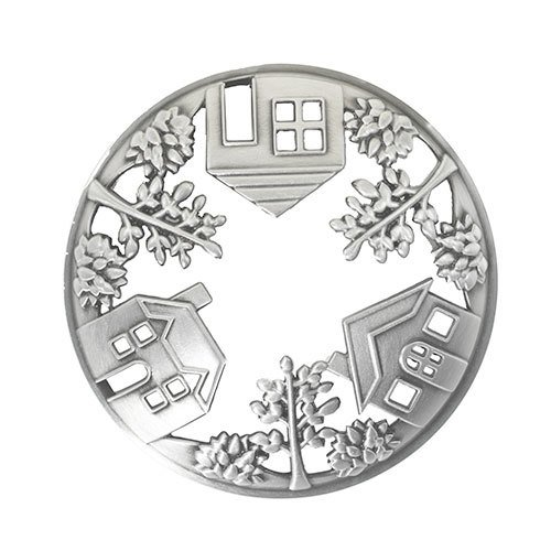 Yankee Candle Home Collection Pewter Home Sweet Home Illuma-Lid Jar Candle Topper ()