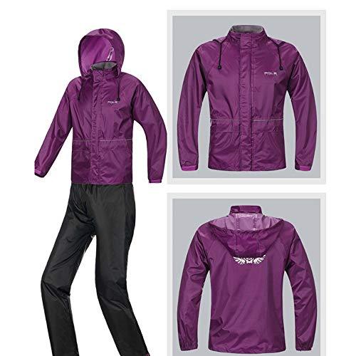 uomo da XL uomo Dimensione tuta Purple piumino Color impermeabile in da donna Impermeabile e Geyao q0fwtZw