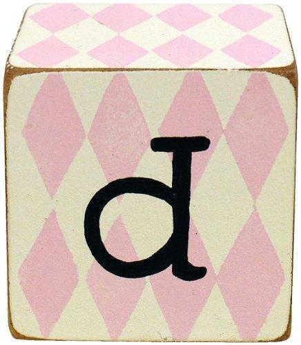 New Arrivals Letter Block D, Pink/White