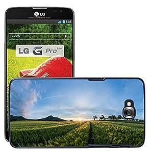 Just Phone Cases Etui Housse Coque de Protection Cover Rigide pour // M00421725 El campo de verano el paisaje de la // LG G Pro Lite D680